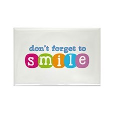 Don't forget to smile Rectangle Magnet (10 pack)