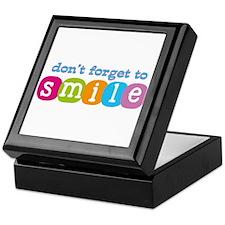 Don't forget to smile Keepsake Box
