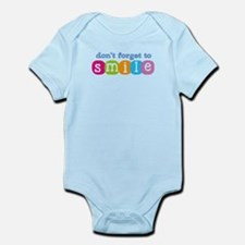 Don't forget to smile Infant Bodysuit