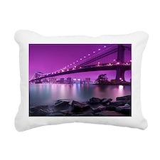 Manhattan Bridge Rectangular Canvas Pillow