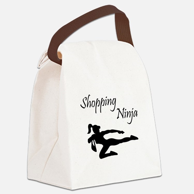 Shopping Ninja Canvas Lunch Bag