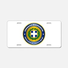 Greek Medallion Aluminum License Plate