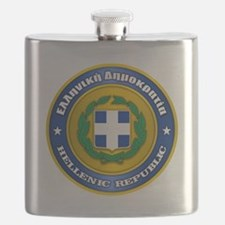 Greek Medallion Flask