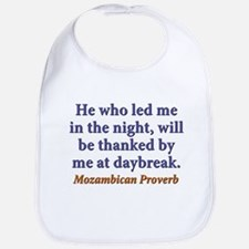 He Who Led Me In The Night Cotton Baby Bib