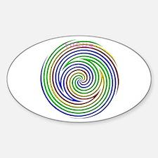 Focus Rainbow Oval Decal