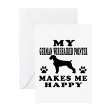 My German Wirehaired Pointer makes me happy Greeti