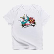 Vegan sparrow tattoo design Infant T-Shirt