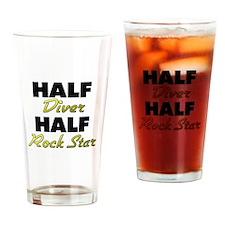 Half Diver Half Rock Star Drinking Glass