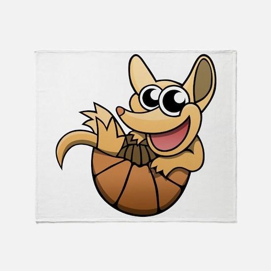 Cartoon Armadillo Throw Blanket