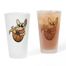 Cartoon Armadillo Drinking Glass