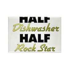 Half Dishwasher Half Rock Star Magnets