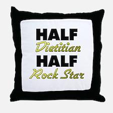 Half Dietitian Half Rock Star Throw Pillow
