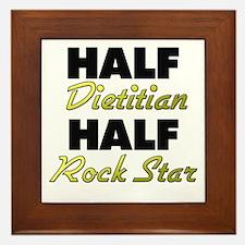 Half Dietitian Half Rock Star Framed Tile