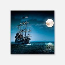 "Ship Out at Sea Square Sticker 3"" x 3"""