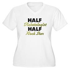 Half Diabetologist Half Rock Star Plus Size T-Shir