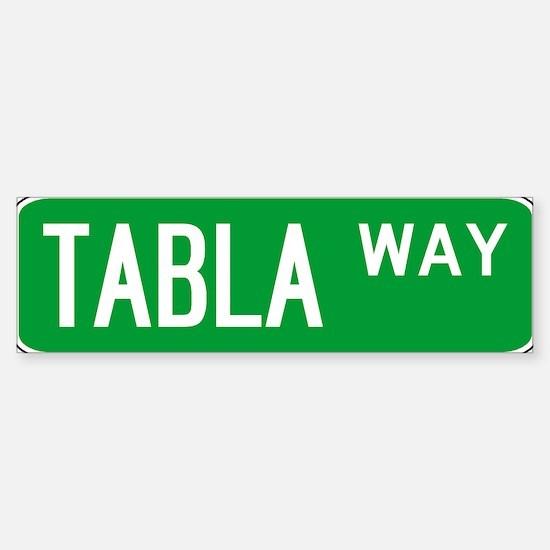 Roadsign Tabla Bumper Stickers