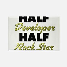 Half Developer Half Rock Star Magnets
