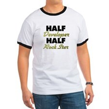 Half Developer Half Rock Star T-Shirt
