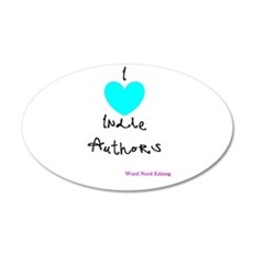 I heart Indie Authors Wall Decal