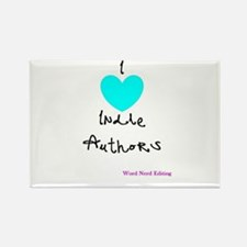 I heart Indie Authors Rectangle Magnet