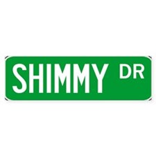 Roadsign Shimmy Bumper Stickers