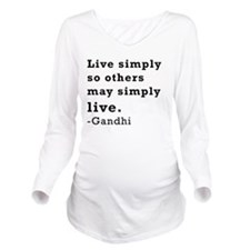 Live simply Long Sleeve Maternity T-Shirt