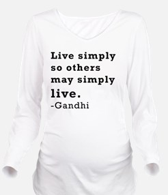 Live simply Long Sleeve Maternity T-Shirt