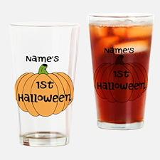 Custom 1st Halloween Drinking Glass