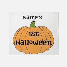 Custom 1st Halloween Throw Blanket