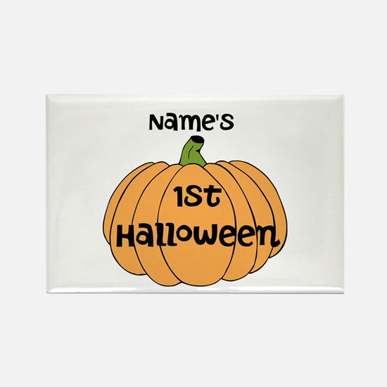 Custom 1st Halloween Rectangle Magnet