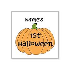 "Custom 1st Halloween Square Sticker 3"" x 3"""