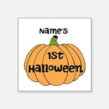"Custom 1st Halloween Square Sticker 3"" x 3"""