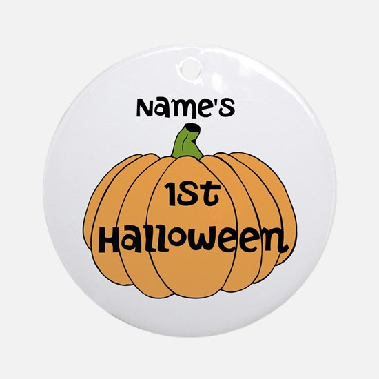 Custom 1st Halloween Ornament (Round)