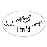 Triathlon Bumper Stickers