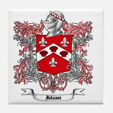 Johnson Family Crest 1 Tile Coaster
