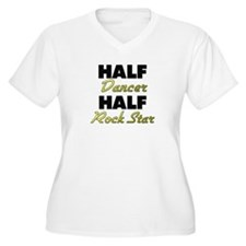 Half Dancer Half Rock Star Plus Size T-Shirt