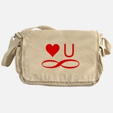 Love you forever Messenger Bag