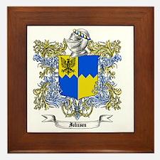 Johnson Family Crest 2 Framed Tile