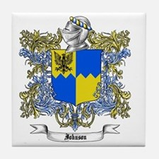 Johnson Family Crest 2 Tile Coaster