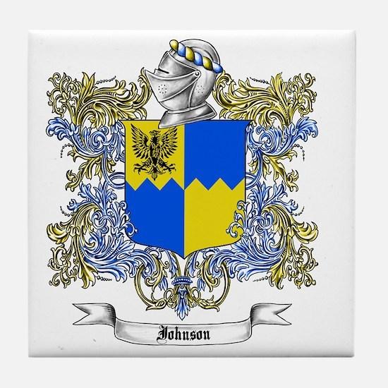 Johnson Family Crest 2 Tile Coaster