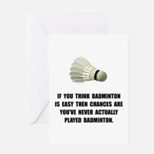 Badminton Easy Greeting Cards