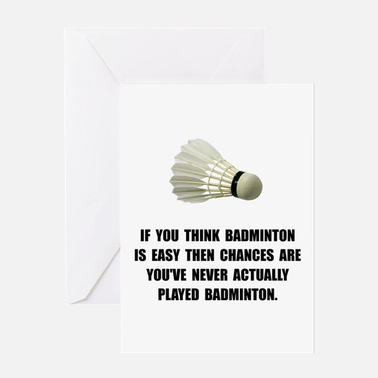 Badminton Easy Greeting Cards