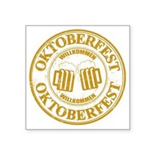 "Oktoberfest Seal Square Sticker 3"" x 3"""
