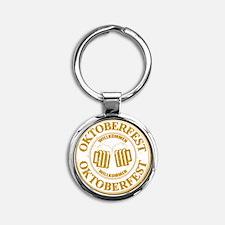 Oktoberfest Seal Round Keychain
