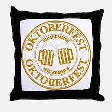 Oktoberfest Seal Throw Pillow
