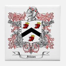 Johnson Family Crest 3 Tile Coaster