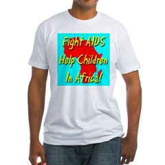 Fight AIDS Help Children In A Fitted T-Shirt