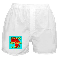 Fight AIDS Help Children In A Boxer Shorts