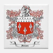 Johnson Family Crest 4 Tile Coaster
