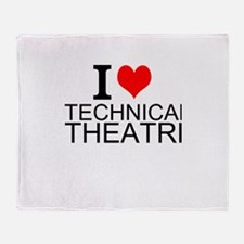 I Love Technical Theatre Throw Blanket
